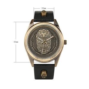 Image 3 - Men Watch Waterproof Leather Band Quartz Wrist Watch Punk Style Cross Zipper Wallet Christmas Gift Set For Husband for Dad