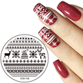 YZWLE 1Pc 5.5cm Round Nail Art Stamping Template Image Plate YZW-Y Series Nail Stamping Plates Manicure Stencil Set