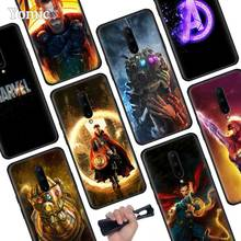 Marvel Superheroes The Avengers Black Soft Case for Oneplus 7 Pro 7 6T 6 Silicone TPU Phone Cases Cover Coque Shell