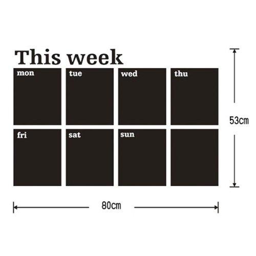 Lovely Calendar Blackboard Removable Wall Sticker Chalk Board Decal цена 2017