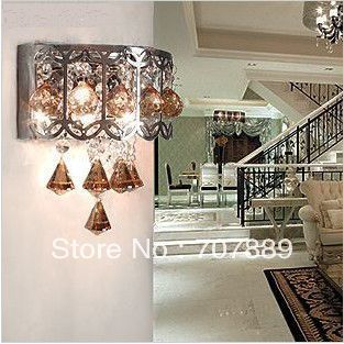 free shipping modern crystal wall lamp G4 wall light for home bedroom fashion fixture indoor lighting sconces decor WL063 fashion letters and zebra pattern removeable wall stickers for bedroom decor