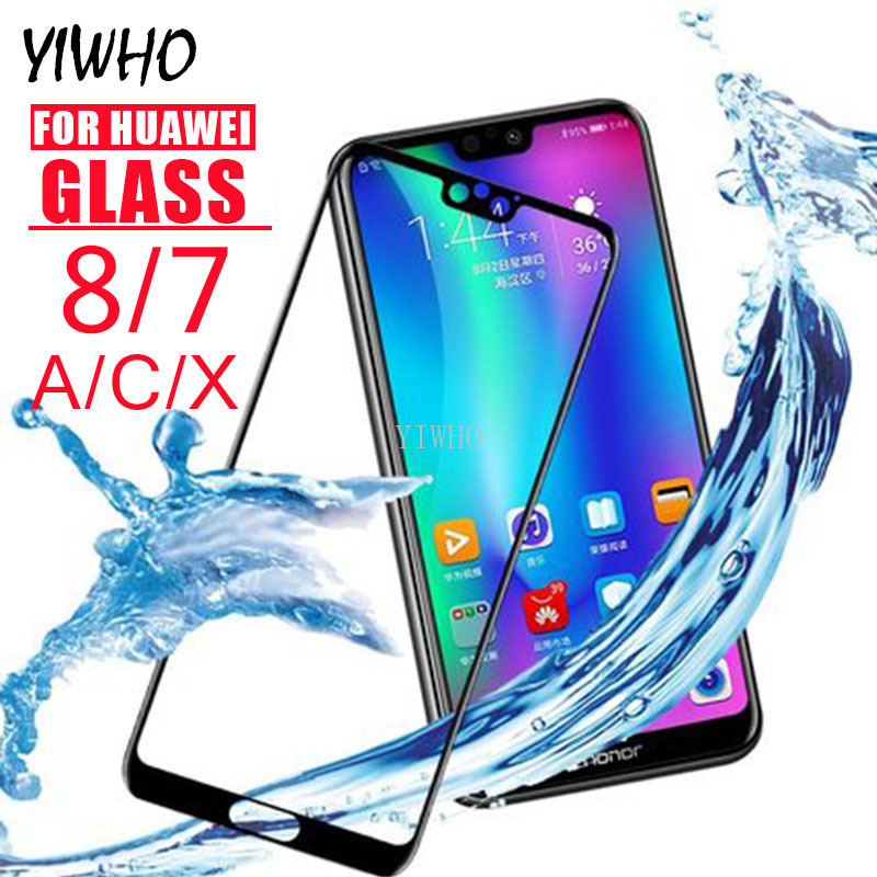 Protective Armor <font><b>Glass</b></font> on For Huawei <font><b>Honor</b></font> 8C 8S 7c 7a 8X 7x <font><b>Pro</b></font> <font><b>Tempered</b></font> Honer 7 A C X <font><b>8</b></font> A7 C7 X7 C8 Screen Protector Glas Film image