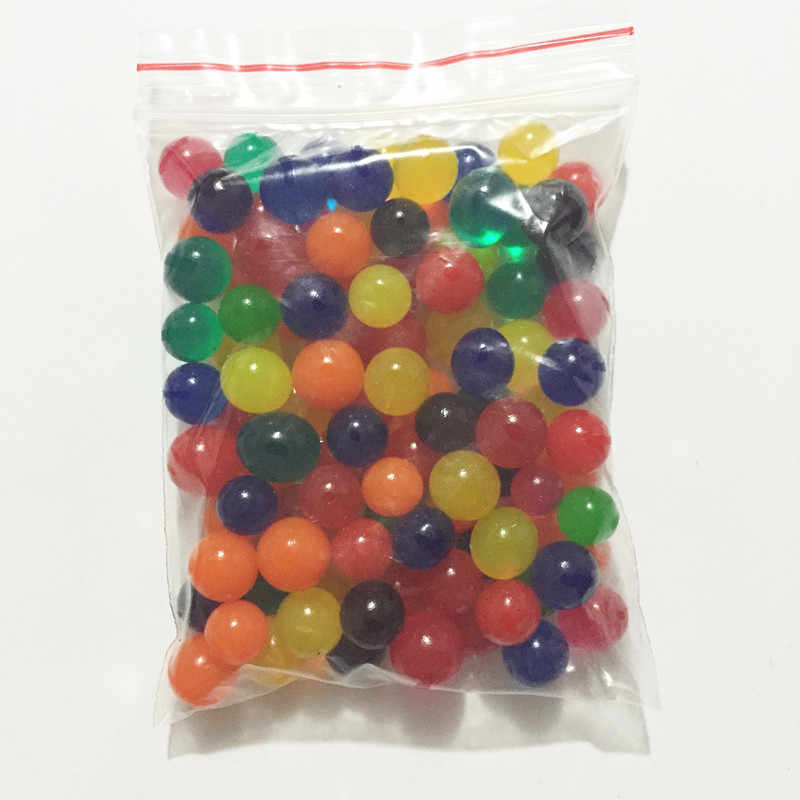 50g/lot About 100pcs 8-10mm Ball Shape Magic Orbits Growing Water Balls In Water Beads For Plants Flower Home Decor SJ8-10