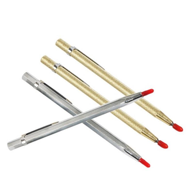 Diamond Glass Cutter Carbide Scriber Hard Metal Tile Cutting Machine Lettering Pen Engraver Glass Knife Scriber Cutting Tool