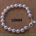 Envío gratis de plata chapada pulsera, joyería de plata 10 MM cuentas buda / egmamxta bhoajyva AH271
