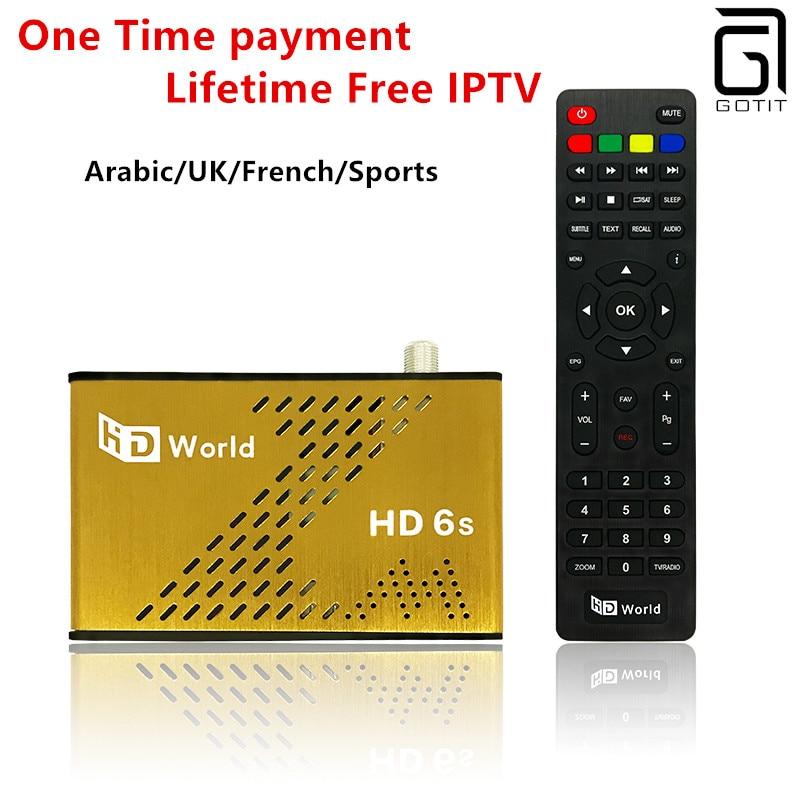 KO Great Bee TV Box HD World Lifetime Free Arabic UK French Indian IPTV HD F6S DVB-S2 1000+full BxxnSpors 02N MyHD Smart TV Box