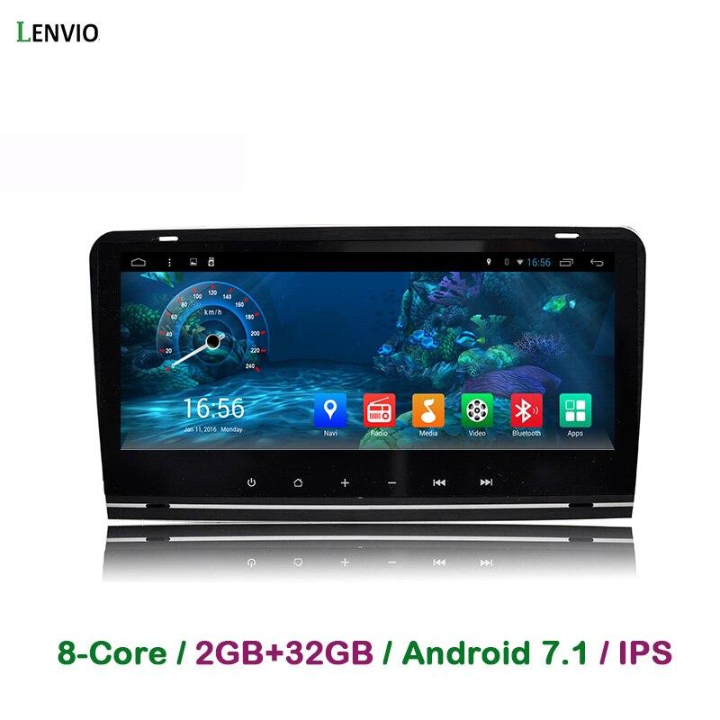 Lenvio ram 2 ГБ + 32 ГБ Octa Core Android 7,1 автомобильный DVD gps навигационный плеер для Audi A3 S3 2003 2004 2011 2006-2005 радио DAB BT ips