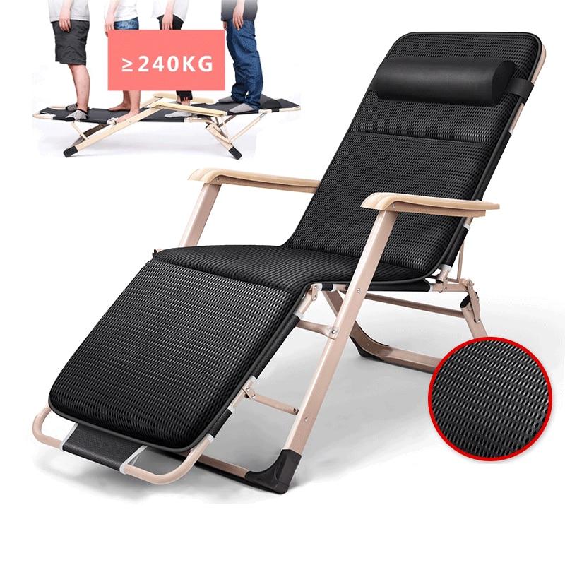 18 nouveaux Modèles Pliage Sieste Fauteuil inclinable Assis/Pose Sieste Chaise longue Canapé D'hiver/D'été De Pêche Chaise De Plage en plein air/Maison