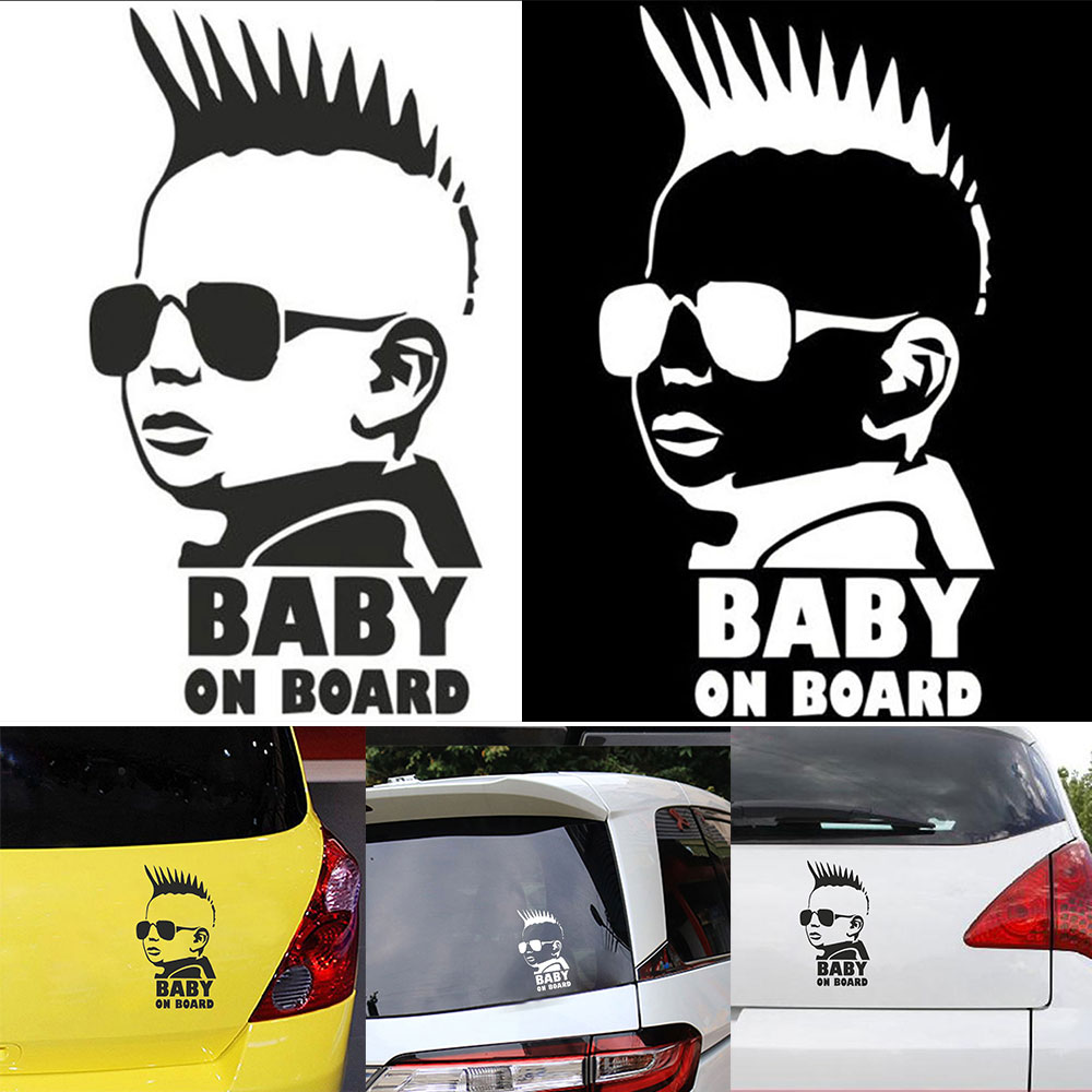 Baby Reflective Tape Stickers Car Sticker Awakening BABY on BOARD Material:PET Warning Sticker Cartoons Stroller Accessories