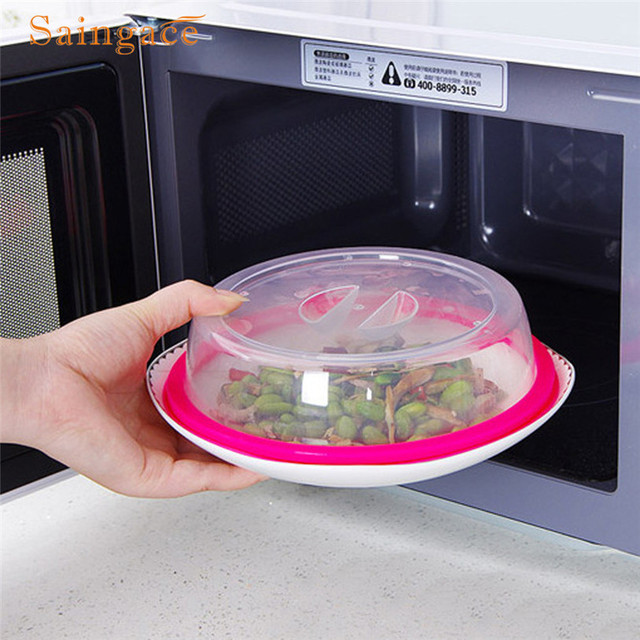 Reusable Plastic Food Cover Microwave Oven Oil Cap Heated Sealed Multifunctional Dish Dishes Dust