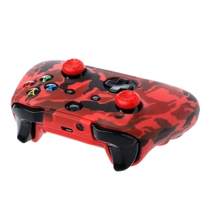 Image 4 - 2018 New Camouflage Silicone Gamepad Cover + 2 Joystick Caps For XBox One X S Controller