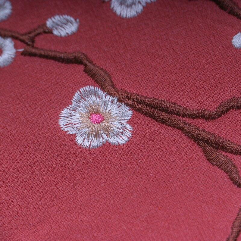 Ручной вышивкой хлопок столбец цветочным узором Чай мат ткань для кунг-фу Чай китайский стиль таблицы площадки 30 х 200 см