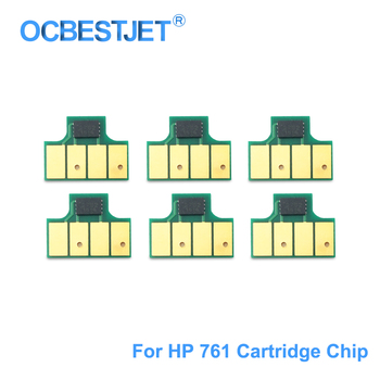 For HP 761 Ink Cartridge Chip New Upgrade Chip Compatible For HP DesignJet T7100 T7200 Printer CM991A CM992A (MBK C M Y GY DGY) image