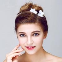 2017 Elegant Boutique Flower Shape Wedding Hairbands Handmade Wedding Hair Accessories Bridal Headpiece Made In China