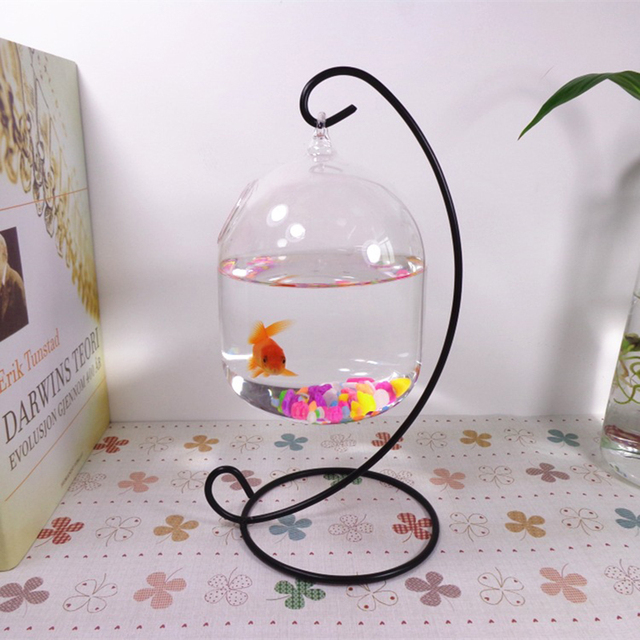 1PC Hanging Holder Crystal Terrarium Container Without Glass Ball Vase Pot Iron Stand Holder Decoration Home Decor 1