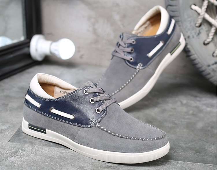 Niños Mens Los Tacones Cómodo Blue Cm Taller Para Zapatos Becerro Zapatillas De Nuevo Cuero gray Altura Ocultos Elevados 6 Aumento Ocasionales Ante dq6UEYx