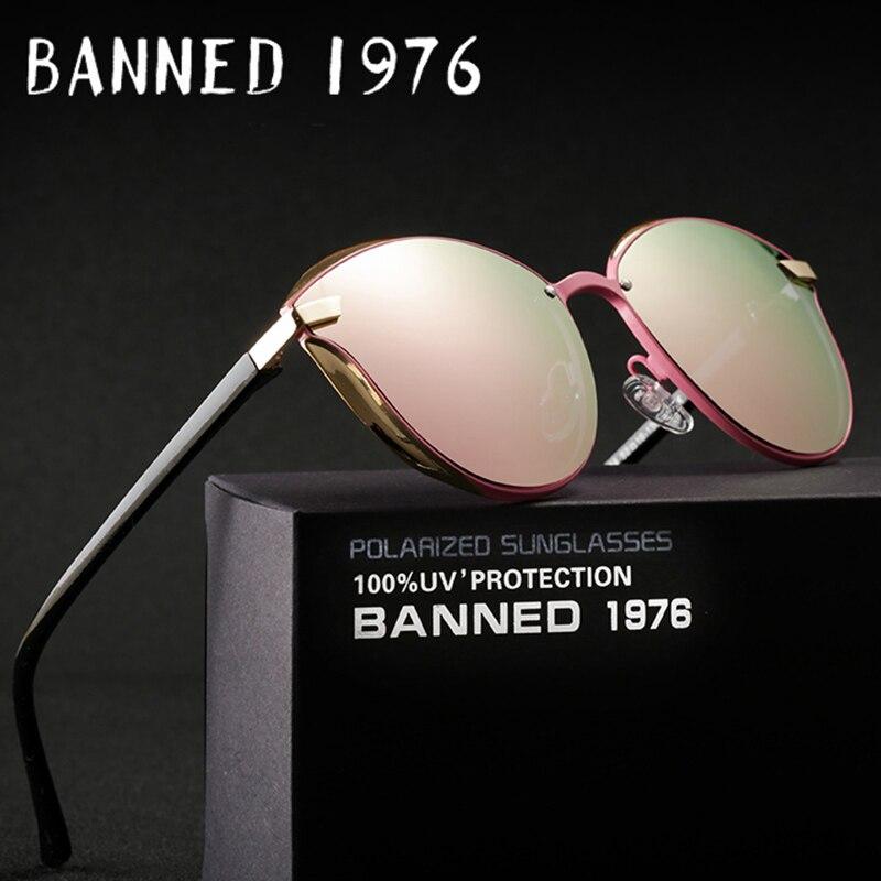 Prohibido 1976 de lujo de las mujeres gafas de sol de moda ronda damas Retro Vintage de marca de diseñador de mujer gafas de sol gafas
