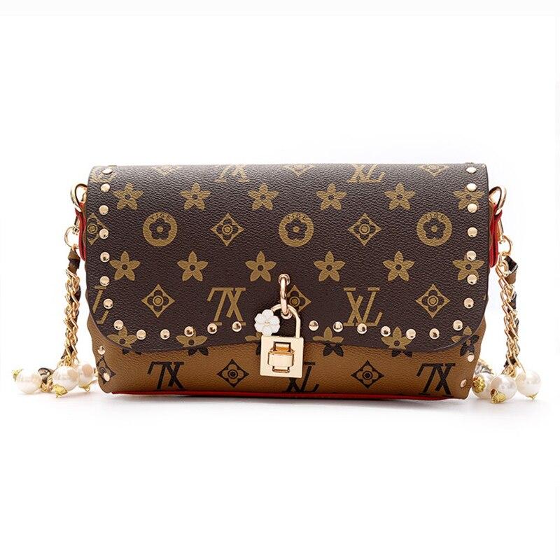 Luxury Handbags Women Bags Designer Crossbody Bags for Women Purse Clutch Shoulder Bags Chains Letter Lock Famous Brands Flap
