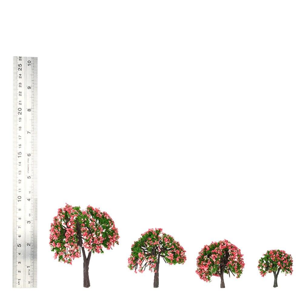 1 шт. Мини-Дерево Модель Пейзаж детский сад моделирование сад модель многоцветный Дерево Модель для поезда железнодорожный пейзаж