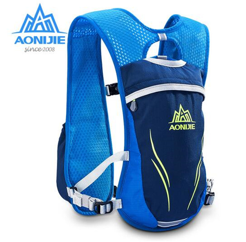 AONIJIE 5 5L Outdoor Trail Running Bags Hiking Climbing Racing Backpack Vest Marathon Cycling Backpack For 1 5L Water Bladder in Running Bags from Sports Entertainment