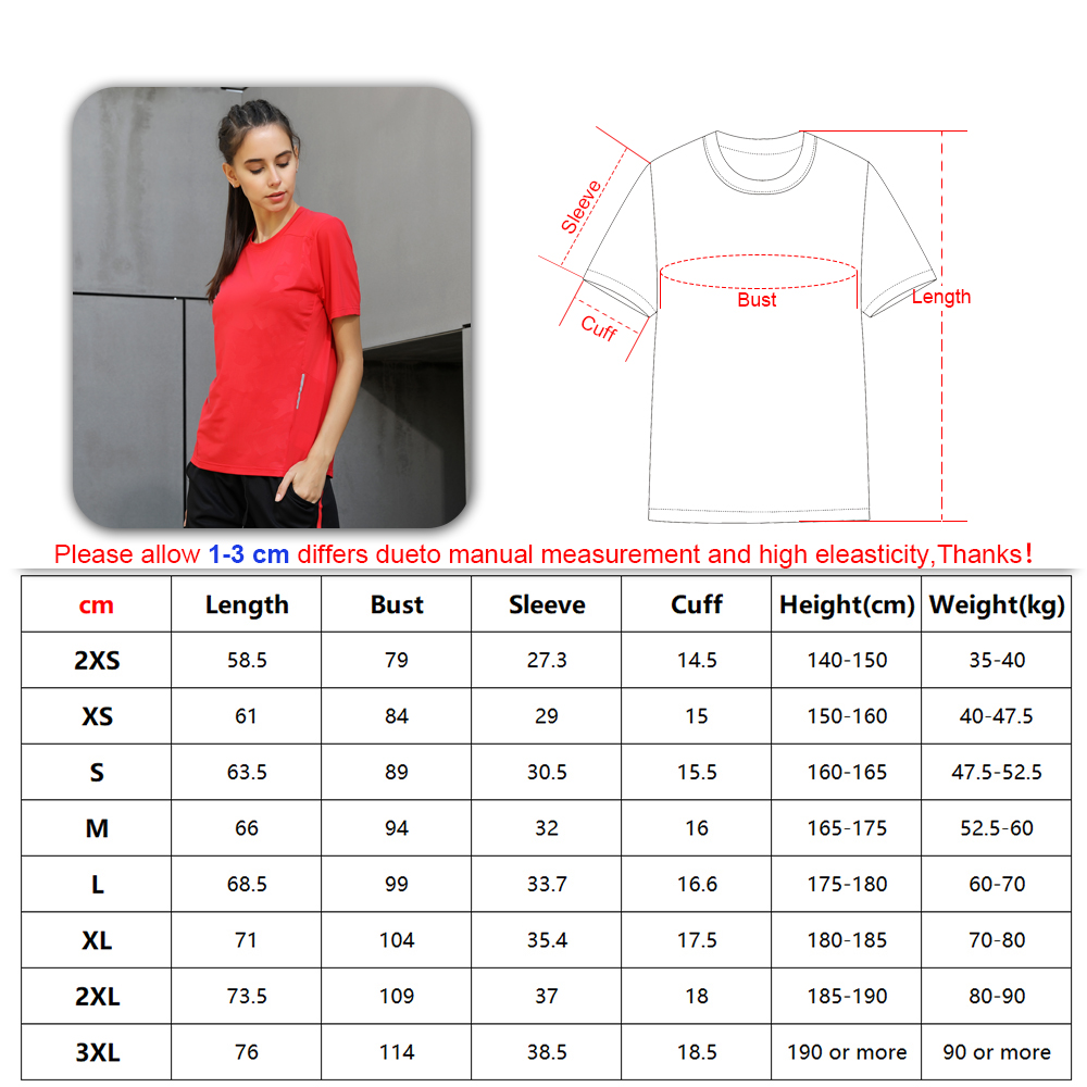 running - Women Dry Quick Short Sleeve Slim Sport T Shirt Gym Jerseys Fitness Shirt Trainer Running T-shirts Breathable Exercises Yoga