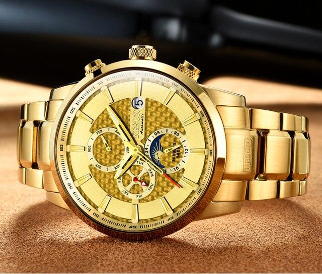 NESUN Luxury Brand Swiss Watch Multifunctional Display Automatic Self-Winding 1