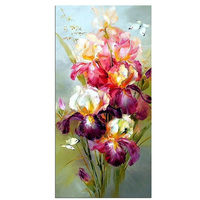 Products For Crafts Diamond Embroidery Flowers Colorful Iris Painting Rhinestones Round Pictures Of Crystals Pattern