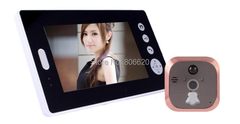 2.4Ghz wireless door phone with 7 TFT LCD display & 200 meters distance drop Shipping Available