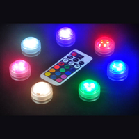 20pcs Wedding Decoration Remote Control Submersible LED Tea Table Mini Light With Battery Party Supplies Christmas