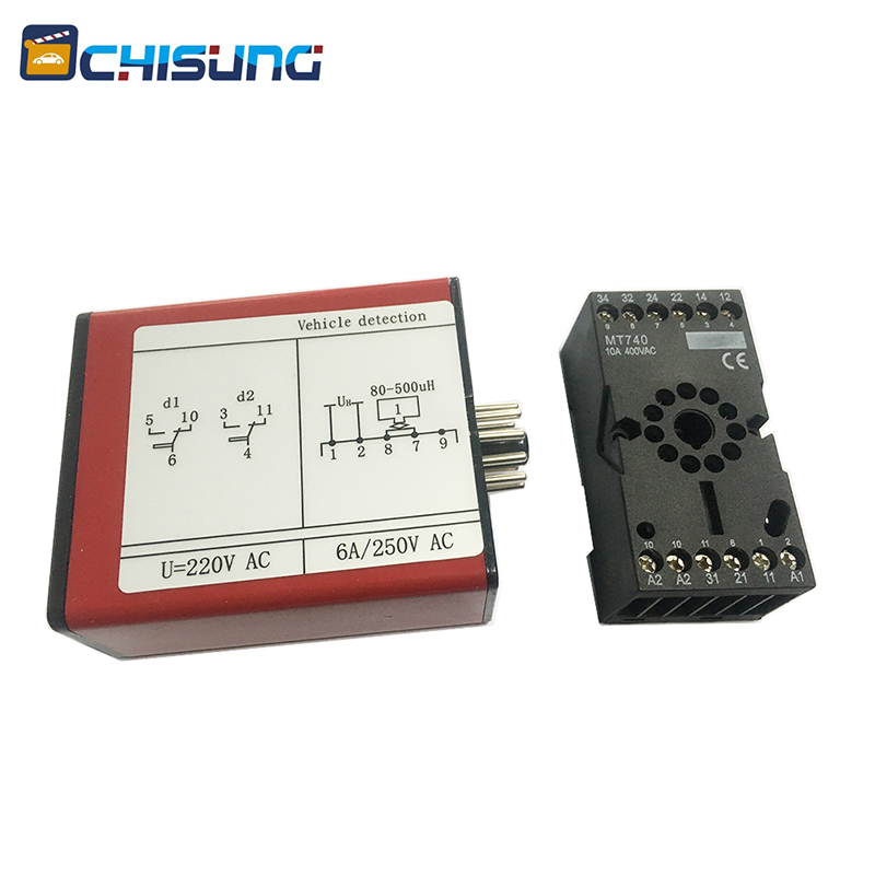 Vehicle Inductive Single Channel Vehicle Loop Detector For Roadway Safety & Barrier Gate Boom