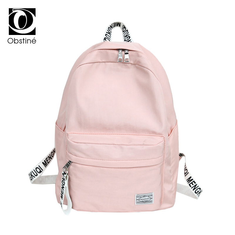 US $16 52 41% OFF|School Backpack for High School Girl Pink Cute Backpacks  Women Nylon Waterproof Schoolbag Bagpack Female Youth Back Pack Woman-in