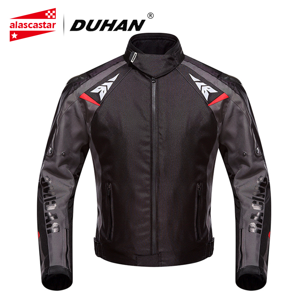 DUHAN Motorcycle Jacket Men Waterproof Motocross Off-Road Street Racing Moto Jacket Shoulder Pad Motorcycle Touring Riding 117 цена
