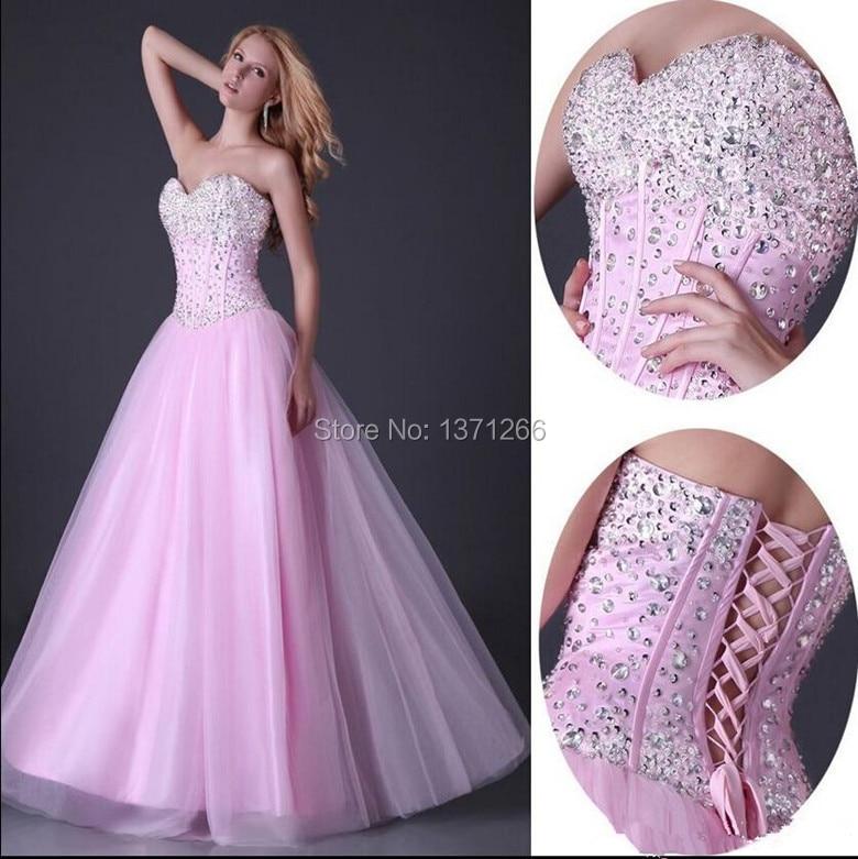 2015 A-Line Beading Sweetheart Sleeveless Floor Length vestidos de 15 anos Quinceanera Dresses Gowns
