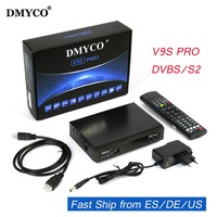 Genuine Newest V9S PRO DVB S2 Satellite Receiver Support PowerVu Biss Key Newcam Youtube Youporn