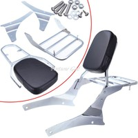 Motorcycle Sissy Bar Backrest Seat Back For Suzuki Boulevard C50 Vl400 Vl800