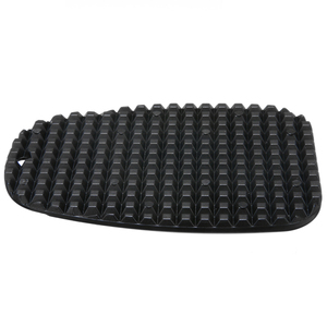 Image 3 - Pata de cabra Universal para motocicleta, placa de soporte lateral, almohadilla de soporte de pie de mimbre de plástico negro, Base de extensión antideslizante, 1 ud.