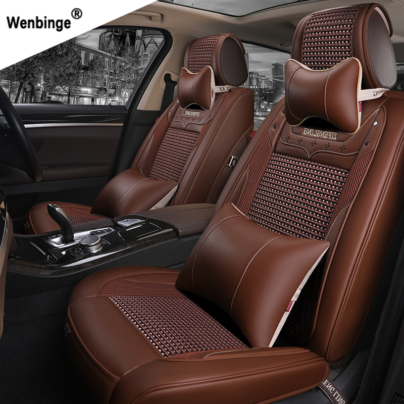 wenbinge Special Leather car seat covers For BMW e30 e34 e36 e39 e46 e60 e90 f10 f30 x3 x5 x6 car accessories auto styling car believe auto automobiles leather car seat cover for bmw e30 e34 e36 e39 e46 e60 f11 f10 f30 x3 x5 e35 x1 car accessories