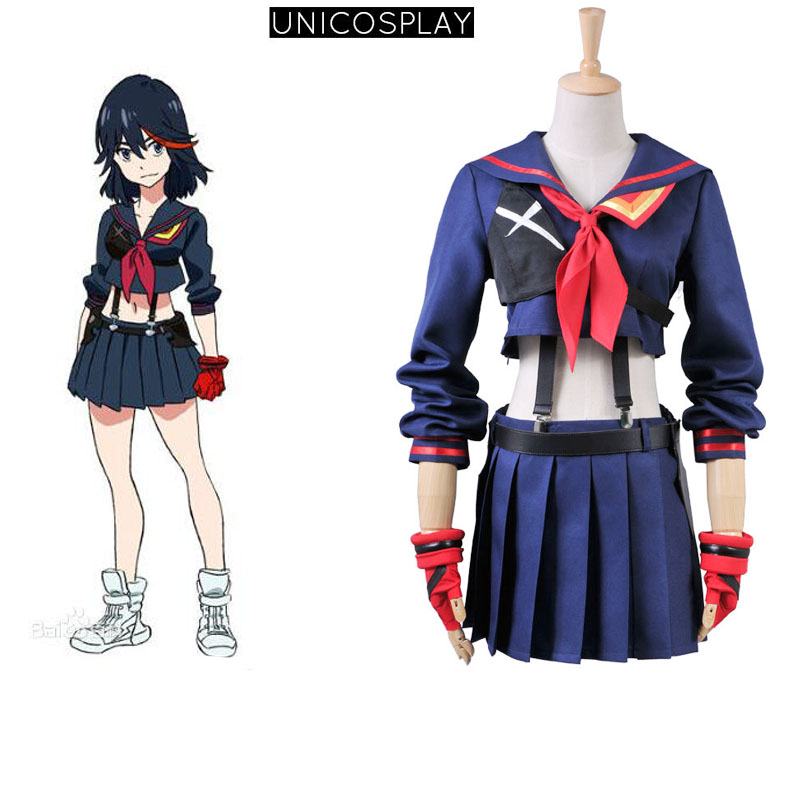 KILL la KILL Ryuko Matoi Navy Sailor Uniform Cosplay Costume Dress