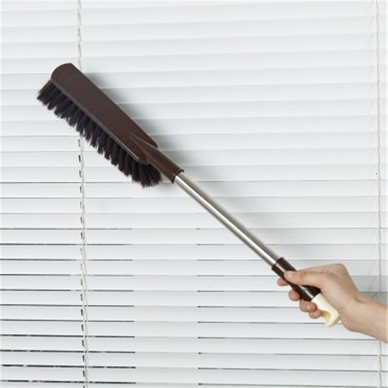 2017 Stainless Steel Long Handle Dust Cleaning Brush Home Car Dust Removal Broom Household Cleaning Tools 52cm