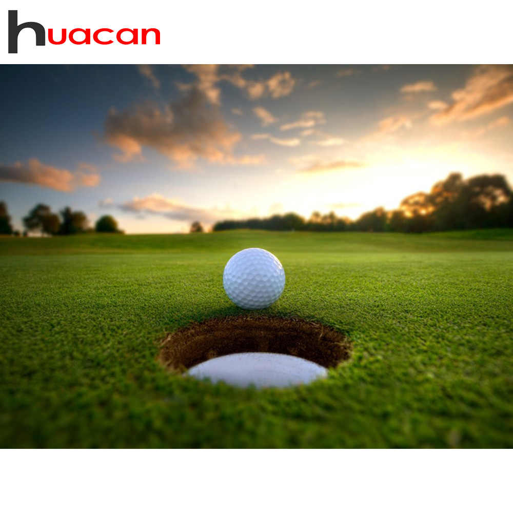Huacan 5D Diamond Painting Full Square Scenic Golf Embroidery Sale Diamond Mosaic Stitch Picture Rhinestone Home Decor Drop Ship
