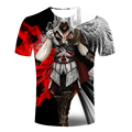 Assassins Creed Men's t-shirt Male Assassin's short Sleeve costume 2017 fashion Men black flag game t shirt  hidden blade