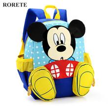 2017 Mickey School Bag Minnie Kids Bag dzieci plecak przedszkole plecak Kid School torby Satchel dla chłopców dziewcząt tanie tanio School Bags W RORETE Nylon 24cm Zamek 14cm 31cm 0 3 kg masy H037 Kreskówki Unisex