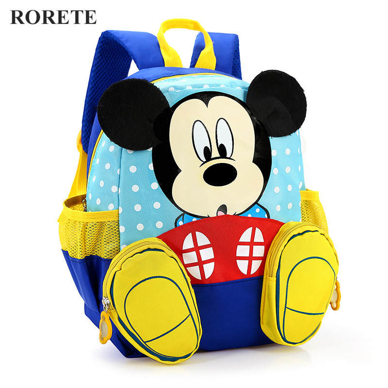 Disney Mickey School Bag Minnie Kids Bag Children Backpack Kindergarten Backpack/kid School Bags/Satchel For Boys Girls Shoolbag