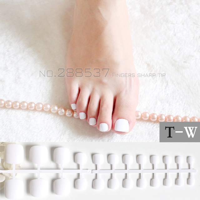 Candy Diy Fashion Colors Toe Nails 24pcs Acrylic False Toes Art Tips Fake Toenails Lovely Real