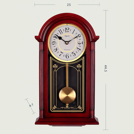 Chinese Wall Clock Living Room Hourly Swinging Quartz Swing Clock Mute Vintage Wall Creative Clock Atmospheric Wall Decoration quartz clock