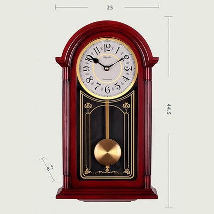 Chinese Wall Clock Living Room Hourly Swinging Quartz Swing Clock Mute Vintage Wall Creative Clock Atmospheric Wall Decoration