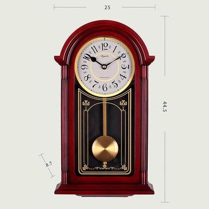 Horloge murale chinoise salon horaire oscillant Quartz balançoire horloge muet Vintage mur horloge créative atmosphérique décoration murale
