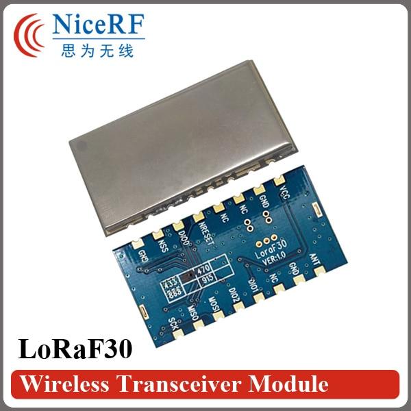 Δωρεάν αποστολή 2pcs / παρτίδα Lora1276F30 1W 6-8 χιλιόμετρα ασύρματη μονάδα RF 868MHz για μεγάλη απόσταση και υψηλή ευαισθησία (-120 dBm)