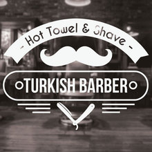 Barber Shop Sign Vinyl Wall Decal Barbershop Scissors Hair Style Stylist Hairdresser Window Stickers Mural Wall Decor 3W19 barber shop logo sign wall decal haircut vinyl interior stickers hairdresser art mural hair salon emblem hair home decor syy490