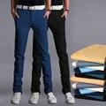Verano hombre casual pantalones marca classic encuadre de cuerpo entero pantalones de algodón estilo de negocios hombre comercial de espesor más el tamaño 28-38